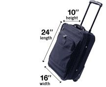Carry-on Dimensions, if you are traveling by Southwest Airlines.  Very helpful if you need to measure your bag to meet carry-on approval.
