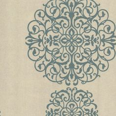 Iman Aqua Medallion Wallpaper contemporary wallpaper