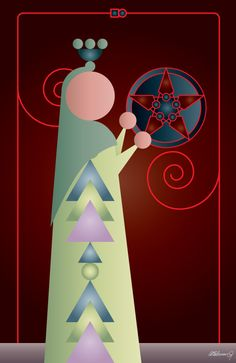 Spinoolean Tarot, Page of Pentacles