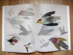 illustrations on transparent paper, Vogelschouw by julie Van Wezemael | via Flickr