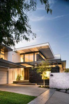 Architekt Wordpress Theme - Interior Design and Architecture Architecture Design, Beautiful Architecture, Contemporary Architecture, Contemporary Houses, Kitchen Contemporary, Modern Houses, Contemporary Design, Modern Exterior, Exterior Design