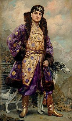 Prince Felix Yusupov by Linse. The Yusupovs were the wealthiest family in Russia. They owned dozens of estates and palaces and Prince Felix Yusupov was married to the niece of Tsar Nicholas II, Irina Alexandrovna. The prince is best remembered for his involvement in the murder of the mad monk Rasputin in the Yusupov family's palace in St Petersburg. He was able to escape to Paris in 1917, taking many fine family jewels