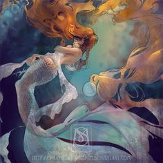 mucha mermaid