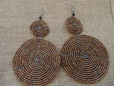 Beaded Earrings-Metallic Brown Variation – Lillon Boutique