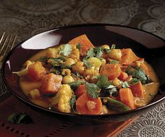 South Indian-Style Vegetable Curry - Fine Cooking Recipes, Techniques and Tips Vegetarian Dinners, Vegetarian Recipes, Cooking Recipes, Healthy Recipes, Vegetarian Curry, Vegan Curry, Veggie Recipes, Seafood Recipes, Indian Vegetable Curry