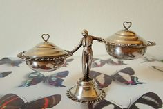 Vintage Spanish Miniature Silver Waiter by PinyolBoiVintage