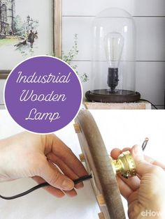 This classic industrial wood lamp is a quick project that can add industrial flair to many designs. Follow these few steps in an afternoon, and you can have an illuminating light on your bedside by nightfall. http://www.ehow.com/how_12343284_make-industrial-wooden-lamp.html?utm_source=pinterest.com&utm_medium=referral&utm_content=freestyle&utm_campaign=fanpage