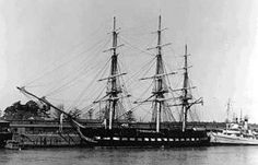 """Oliver Wendell Holmes """"Ay, tear her tattered ensign down!"""" Ay, tear her tattered ensign down! Sailing Ships, American History, Poems, Iron, Country, Rural Area, Us History, Poetry, Verses"""