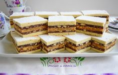 Romanian Desserts, Romanian Food, Romanian Recipes, 80s Party Foods, Cake Recipes, Dessert Recipes, Food Cakes, Sweet Cakes, Sweet Treats