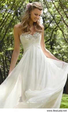Simple wedding dress for romantic women - BeaLady.net
