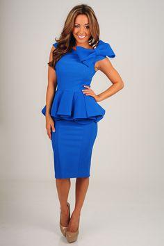 Darling At The Derby Dress: Royal Blue