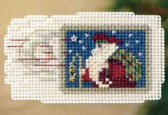 Holiday Stamp Cross Stitch Ornament Kit Mill Hill 2011 Winter Holiday