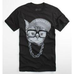 Crooked Monkey Tees - Mens - Brooklyn Cat T-Shirt
