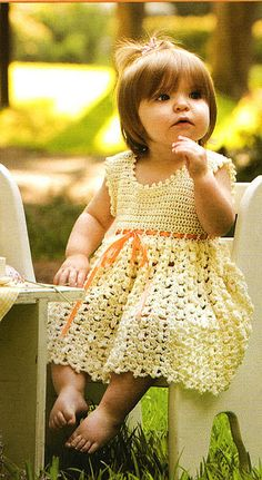 I think I have this issue of crochet world magazine! Have to find it!VanillaBabyDress by D's~Zigns, via Flickr. Published in Crochet World Magazine: Fall 2011: Crochet for Babies & Kids.