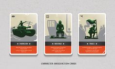 Leader Card Game – a live action adventure  Created by the designers at Studio AIO all the way from Kuwait, this action card game combines sobriety and liveliness in just the right amounts. The lines and colors are simple, but each card has a nice design touch that makes the image come out of the page and convey the idea of the thrilling action and excitement it is meant to portray.