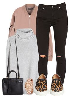 """""""we don't do the same drugs no more"""" by aiyanaa ❤ liked on Polyvore featuring Chloé, Yves Saint Laurent, 7 For All Mankind, Givenchy and Michael Kors"""