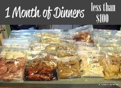 Dinners-On-A-Budget-One-Month-Of-Dinners-For-Less-Than-$100===We need to start preparing right now for what ever may come where our family will need to have good food on hand. ~Dee