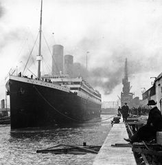 The British built luxury liner Titanic set sail on its maiden and only voyage, from Berth 44, White Star Line dock, Southampton bound for New York. on this day 10th April, 1912