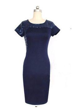 Plain Round Neck Bodycon Dress
