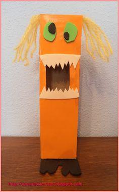 El monstruo CoMeMieDoS: para comerse los miedos de los peques escritos en un papel.