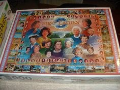 """FIRST LADIES"" JIGSAW PUZZLE 1,000 Pieces~New (Sealed)~Make an Offer--Free Ship #WhiteMountain"