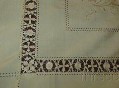 Vintage Silk Embroidery Tablecloth   eBay