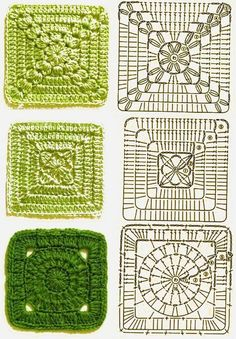 Transcendent Crochet a Solid Granny Square Ideas. Inconceivable Crochet a Solid Granny Square Ideas. Crochet Blocks, Granny Square Crochet Pattern, Crochet Diagram, Crochet Chart, Crochet Squares, Crochet Motif, Crochet Patterns, Granny Squares, Knitting Patterns