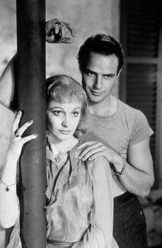 """Marlon Brando with Vivien Leigh for """"A Streetcar Named Desire"""""""