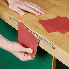 Hacksaw Blade Sandpaper Cutter
