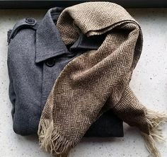 Vintage hand loomed Peter Barton scarf by SEBMarketBK on Etsy
