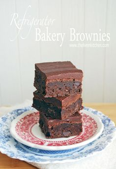 Refrigerator Bakery Brownies - These taste exactly like your favorite bakery treat!