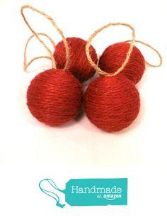 Jute Wrapped Christmas Ornaments, Set of 4 in Red from HomeDarling http://www.amazon.com/dp/B015QA16II/ref=hnd_sw_r_pi_dp_tEufwb139QV9Q #handmadeatamazon