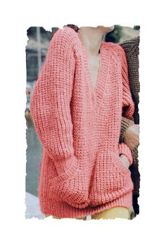 Instant Download PDF Knitting PATTERN to make an Oversize