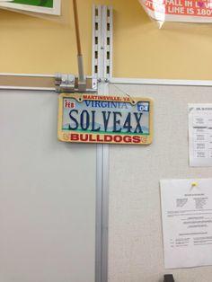 Math License Plate
