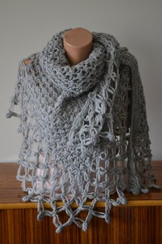 Birthday Gift Triangle Shawl, Handknitted item,