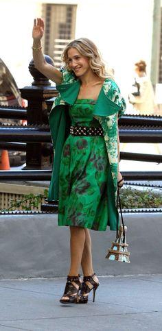 Sarah Jessica Parker - nice dress and belt