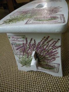 Decoupage stool