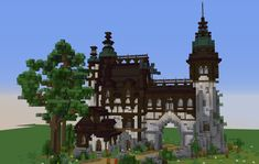 """""""I built this fantasy house yesterday together with my little brother on Hope you enjoy it! Art Minecraft, Minecraft Building Guide, Cute Minecraft Houses, Minecraft Plans, Amazing Minecraft, Minecraft House Designs, Minecraft Survival, Minecraft Tutorial, Minecraft Blueprints"""