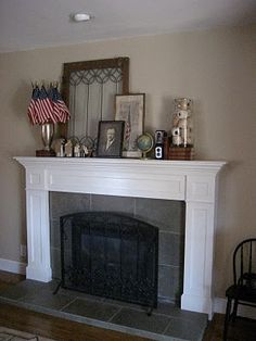 Add a handful of small American flags to make your mantel celebrate a patriotic holiday!