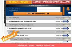 [File Pendidikan] Aplikasi Administrasi Program Pengajaran Guru Kelas dan Bidang Studi (MAPEL) berbasis Exel Format Lengkap