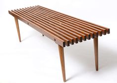 George Nelson Slatted Wood Bench Coffee Table At 1stdibs