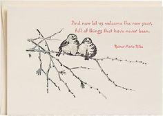 Juncos Birds Letterpress Holiday Cards