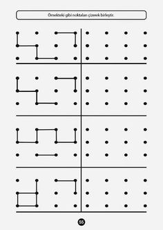 Patterns with template ideas Preschool Writing, Kindergarten Activities, Kids Education, Special Education, Visual Perception Activities, Printable Mazes, Free Printable, Math Patterns, Pediatric Occupational Therapy