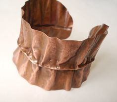 Buy Unique Handmade Bracelet-Hand Hammered Jewelry-Fold Formed Copper Bracelet-Flamed-Polished-Non Toxic by annarecycle. Explore more products on http://annarecycle.etsy.com