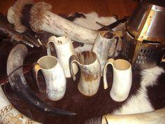 Horn beer mugs / drinking  tankard game of thrones style viking jarra cuerno medieval estilo juego de tronos vikingo