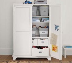 Toy Armoire | Pottery Barn Kids or I could use the espresso in the bedroom for my TV and DVR system so its hidden from view.