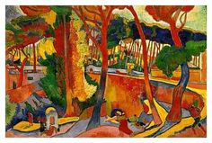 'The Turning Road at L'Estaque', 1906 (oil on canvas) by André Derain. Derain and Henri Matisse created the Fauvism in 1905. Within a few years, Fauvist techniques were adopted and developed by the German Expressionists and their various splinter groups. Fauvism was gradually subsumed into the canon of modern art, but its influence liberated the use of color for future generations of artists, who ultimately explored color as an abstract subject in its own right.