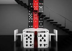 playing Cards furniture   Original Furniture For Poker Fans   DigsDigs