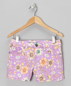 Another great find on #zulily! Magenta Daisy Shorts - Toddler & Girls by Request Jeans #zulilyfinds