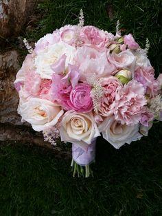 Pink and blush bridal bouquet by Fleurt Floral Art